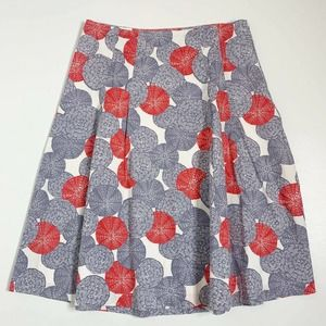 Boden Print A Line Skirt Multicolored Size 10 Long